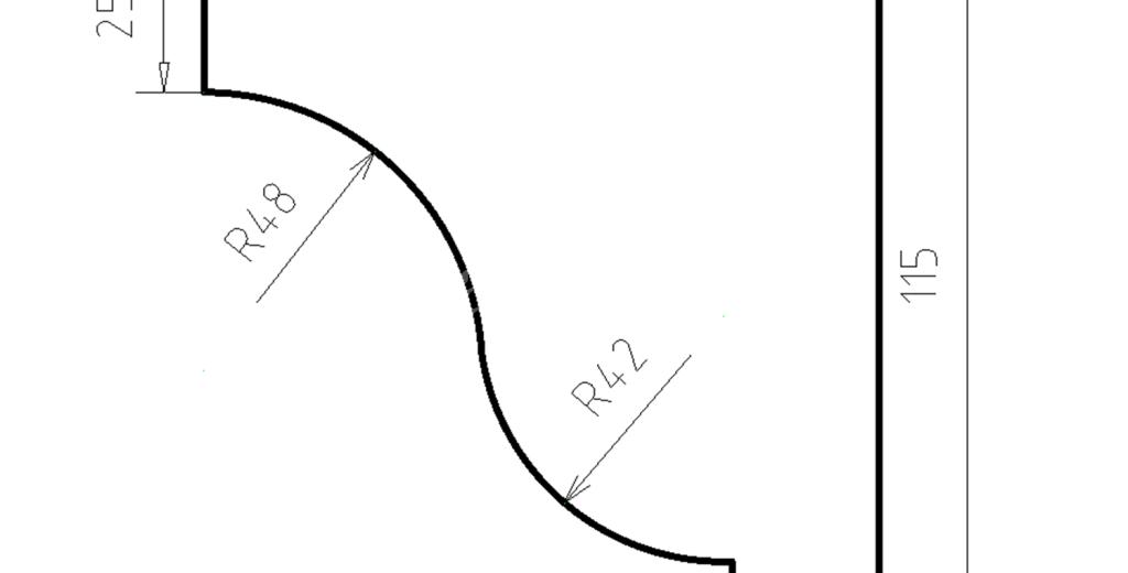 Карниз фасадный из пенополистирола КФ-15