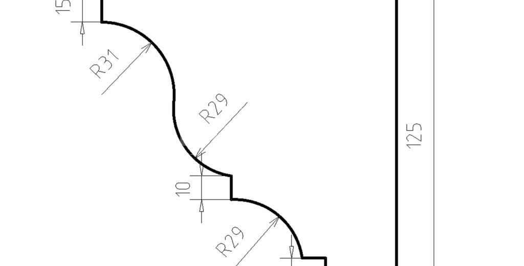 Карниз фасадный из пенополистирола КФ-18