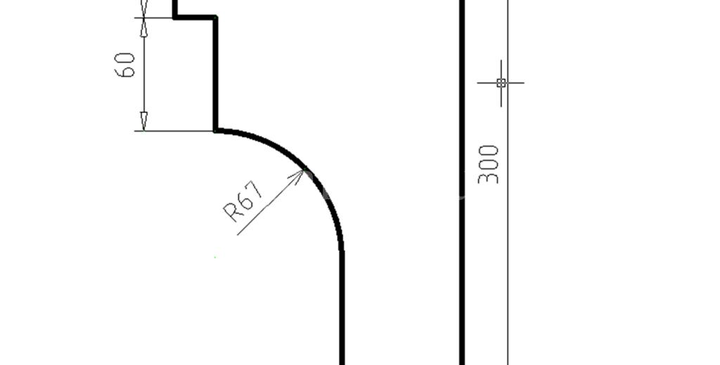 Карниз фасадный из пенополистирола КФ-23
