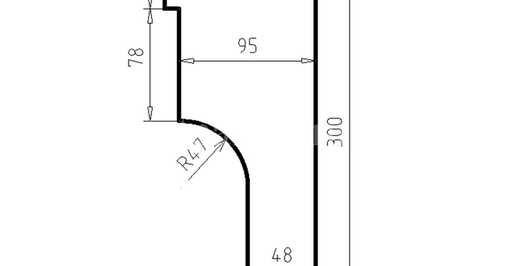 Карниз фасадный из пенополистирола КФ-25