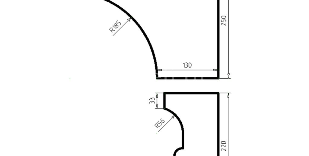 Карниз фасадный из пенополистирола КФ-03