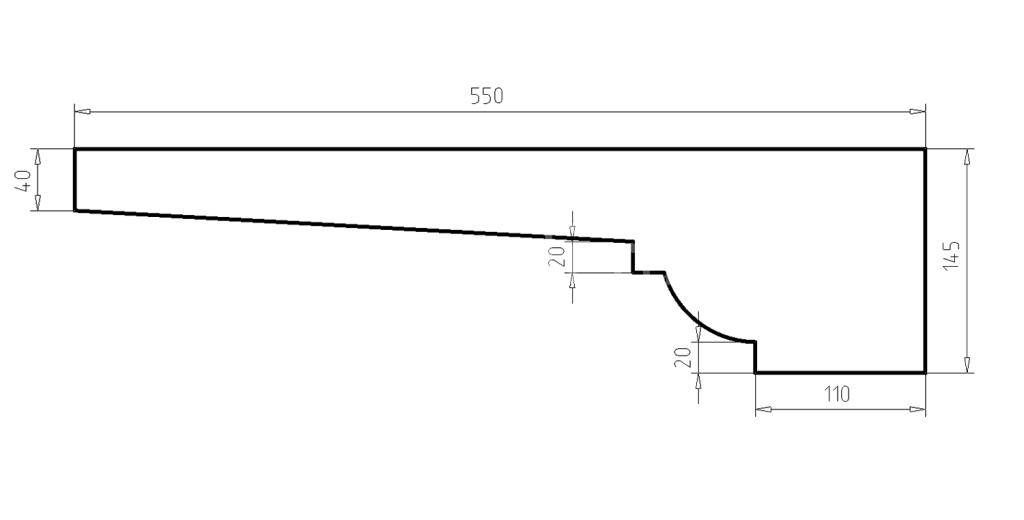 Карниз фасадный из пенополистирола КФ-35