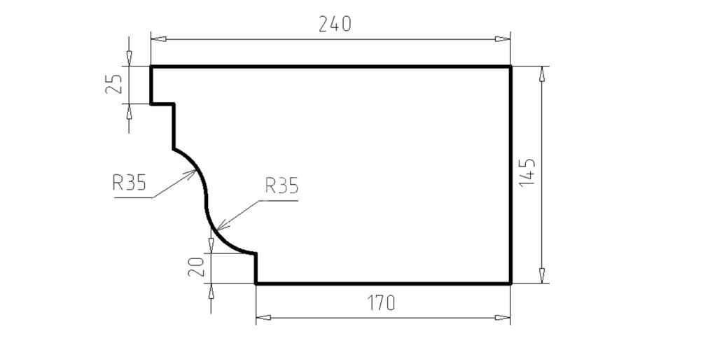 Карниз фасадный из пенополистирола КФ-37