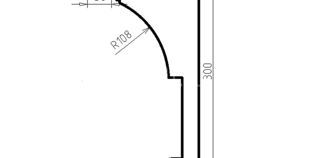 Карниз фасадный из пенополистирола КФ-04