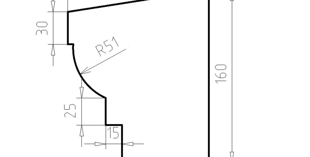 Карниз фасадный из пенополистирола КФ-44