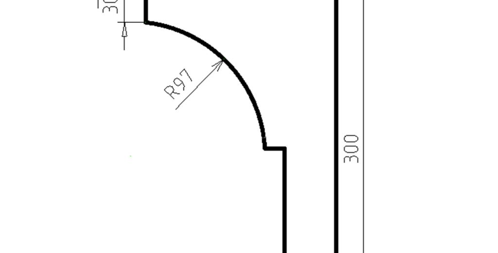 Карниз фасадный из пенополистирола КФ-05