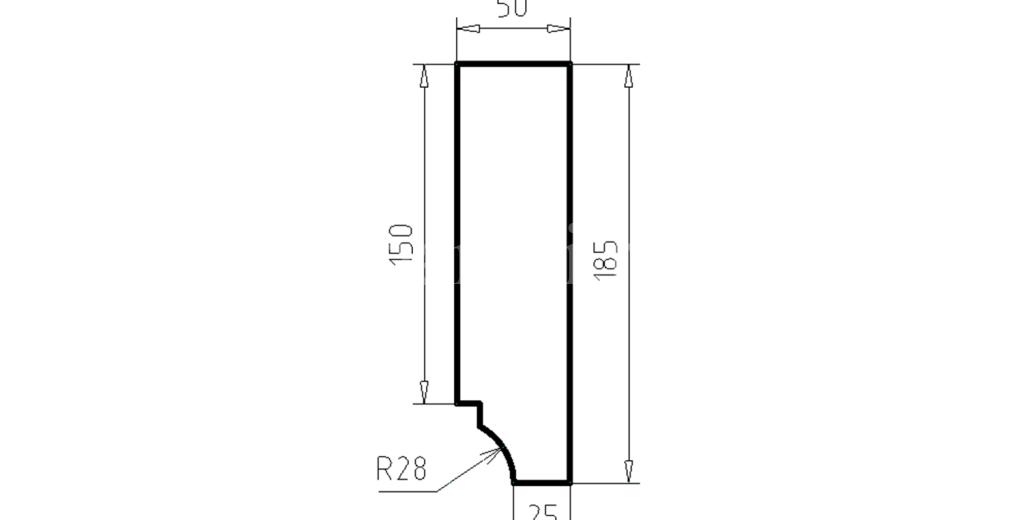 Карниз фасадный из пенополистирола КФ-52