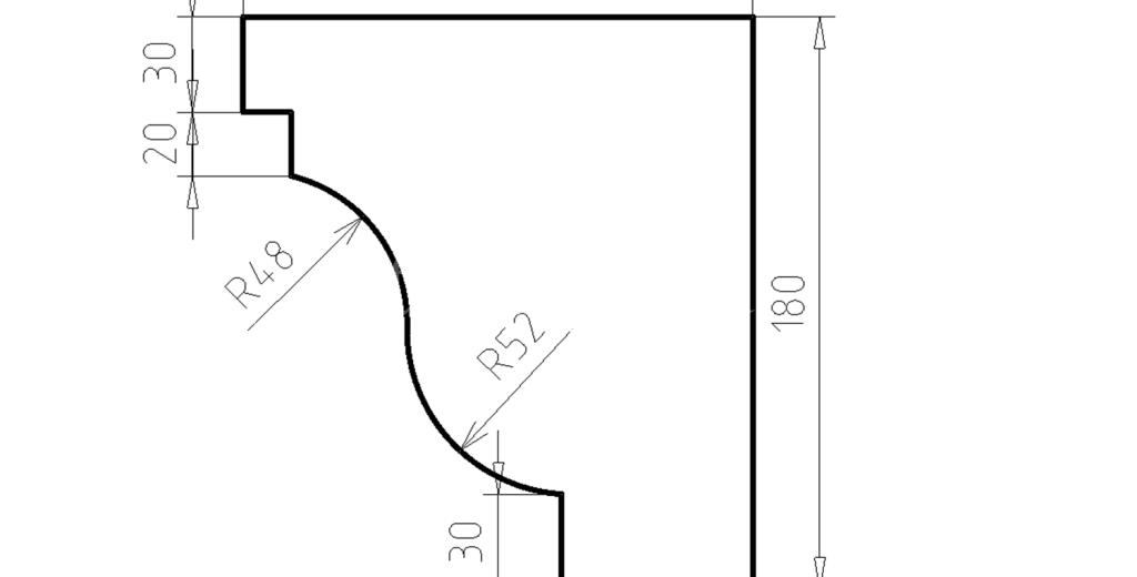 Карниз фасадный из пенополистирола КФ-55