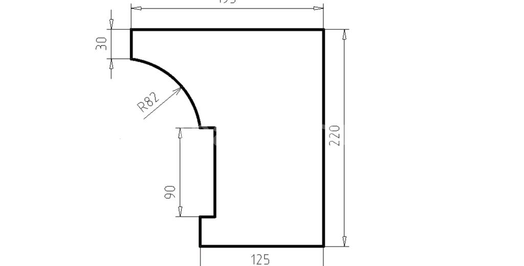 Карниз фасадный из пенополистирола КФ-62