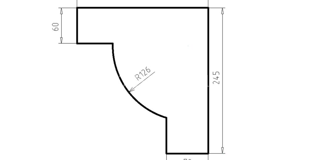 Карниз фасадный из пенополистирола КФ-65