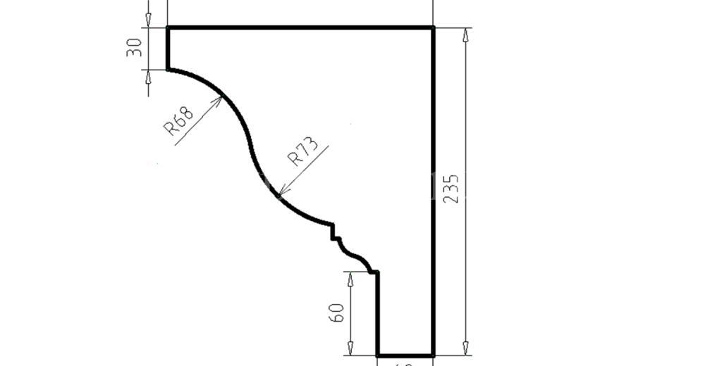Карниз фасадный из пенополистирола КФ-77