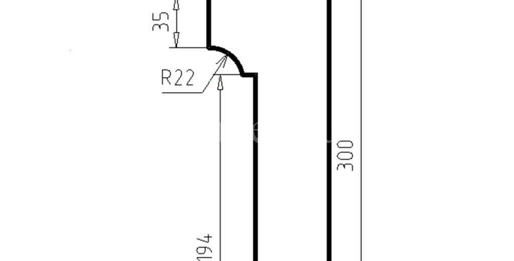 Карниз фасадный из пенополистирола КФ-95