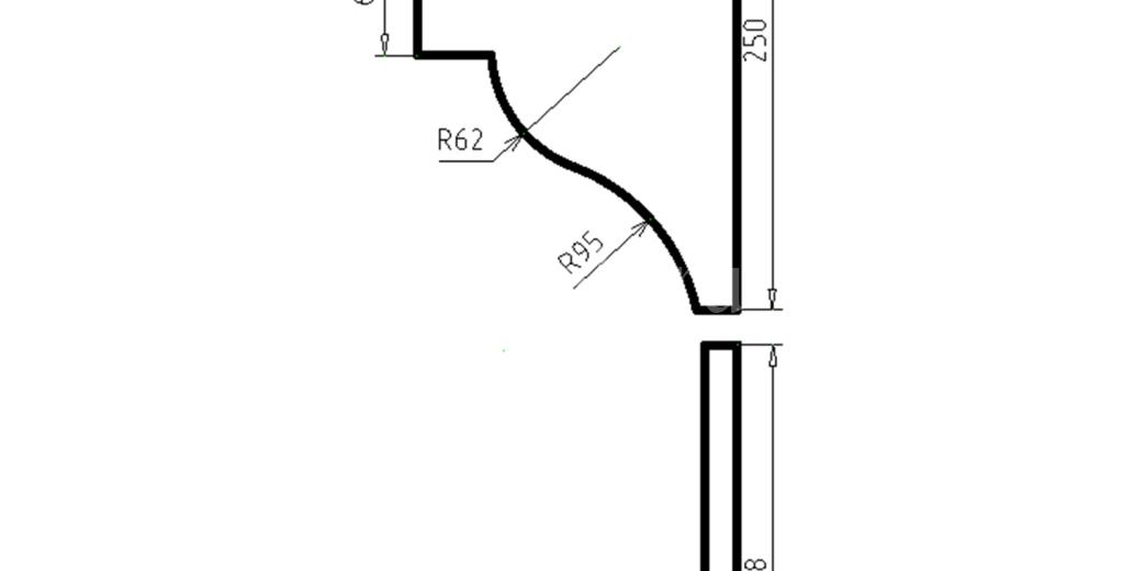 Карниз фасадный из пенополистирола КФ-99
