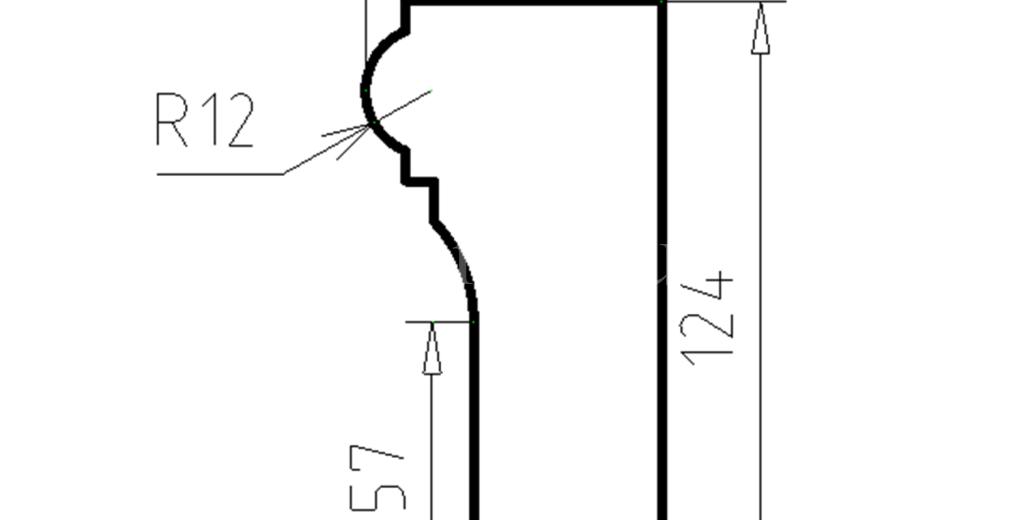 Наличники из пенополистирола модель НФ-40
