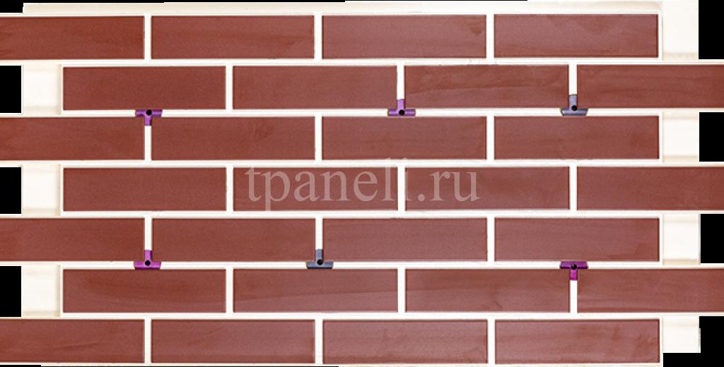 Фасадные клинкерные термопанели Cerrad Burgund gladka