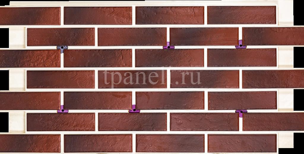 Фасадные клинкерные термопанели Cerrad Old castle Red